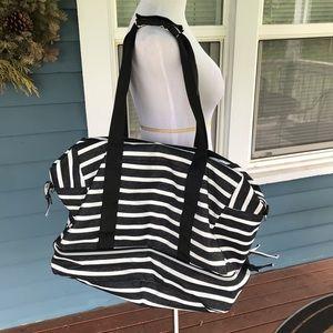 Handbags - B&W Striped Canvas Carry-On Bag